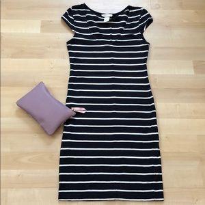 H&M navy striped dress